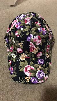Black, pink, and purple floral cap Calgary, T3K 0C9