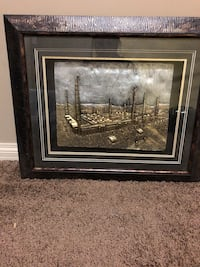 brown wooden framed painting of house Edmonton, T5Y