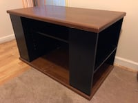 Black wooden single pedestal desk Lindenhurst, 11757