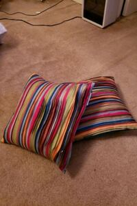 Colorful Striped Pillows 17×17in. Temple Hills
