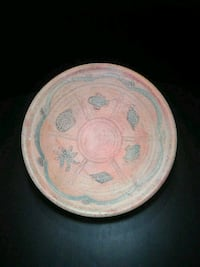 Pottery bowl on stand