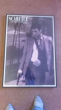 Scarface poster aluminum frame Silver Spring