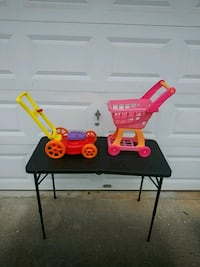 Toy lawn mower and shopping cart Decatur, 30035