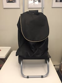 black and gray leather backpack Vancouver, V6H 1A5