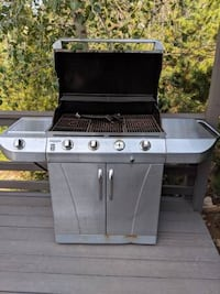 stainless steel and black gas grill Lakewood, 80214
