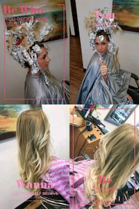 Wedding hair styling