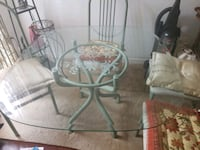 Wrought iron etched glass dining room set Upper Marlboro, 20772