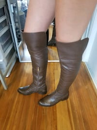 Over the knee leather boots Vancouver, V6H 2M1