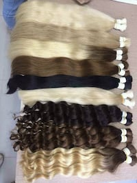 300G  Top Remy hair, tape in, clipin, weft,  Silver Spring