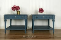 Pair of Blue End Tables or Night Stands Warrenton