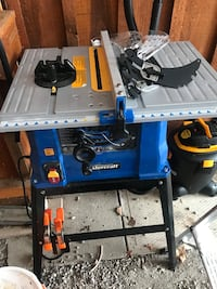"""10"""" table saw with stand"""