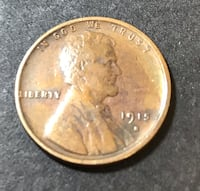 1915-S Lincoln Penny.  Scarce Date Redding, 96002