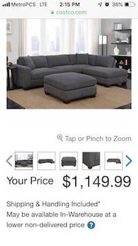 gray sectional sofa with ottoman Rockville, 20852