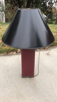 black and red table lamp Annandale, 22003