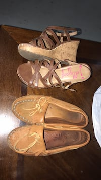 Size 6. Real Moccasins. both gently worn. obo Rome, 30165