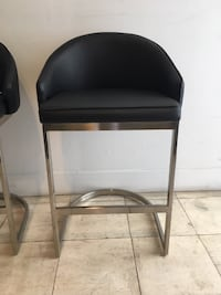 black faux leather counter stool chair LOSANGELES