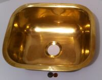 """Vintage Brass Sink, Bar Sink, Basin, Home Decor, Kitchen Decor, Bar Decor, 13 1/2"""" x 11 1/2"""" Outer Size and 6"""" Deep, 2"""" Drain Hole, This can be shined up even more. Lakeside"""