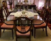 Ethan Allen beveled glass dining room table with 6 Fairfax Station, 22039