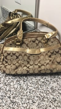 Gold and Brown Coach Purse