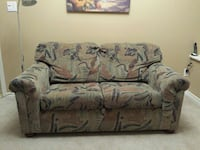 green and brown loveseat and sofabed Port Coquitlam, V3B 7Y9