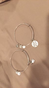 """Alex and Ani bracelets. Apple and quote """"it is what it is"""" East Hills, 11577"""