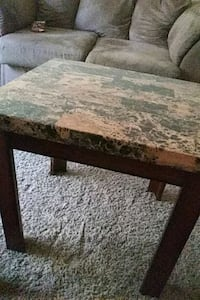 2 brown marble end tables Hamilton Township, 08330