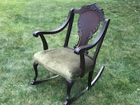 ANTIQUE ROCKING CHAIR PROFESSIONALLY REUPHOLSTERED Chicago