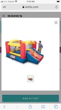 Little tykes bouncy house. Comes with blower- no holes