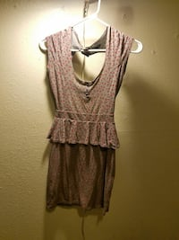 women's brown mini dress