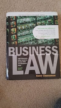 Business Law by Henry Cheeseman book Clarksburg, 20871