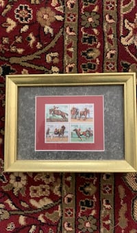 Commemorative Horse Stamp set in frame Kearneysville, 25430