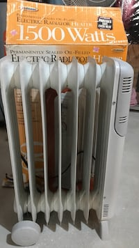 1500w white electric radiator West Bloomfield, 48323