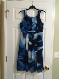 white and blue tank dress. Size 10