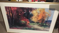 brown wooden painting frame Herndon