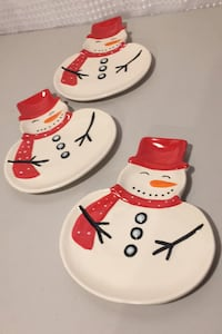 Snowman desert dishes