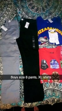 Boys size 8 pants, xl shirts  Gainesville, 30504