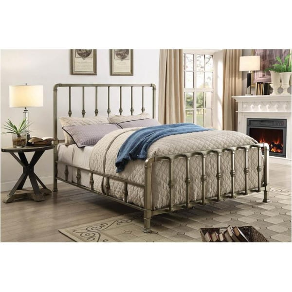 Micah Champagne Metal Bed with Mold-Casted FREE DELIVERY FINANCING