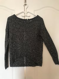 Black knitted scoop-neck sweater Vaughan, L4L