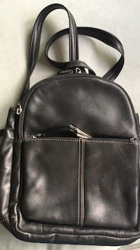 Kim Rogers black leather backpack Arlington, 22207