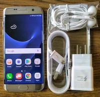 Silver Galaxy S7 Edge 32GB UNLOCKED w/ Accessories Arlington