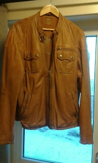 MEN'S LAMB LEATHER JACKET XL! BARELY NEW!!!