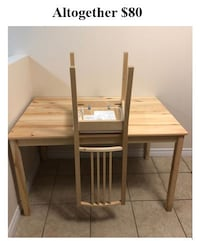 brown wooden table with chairs Kitchener