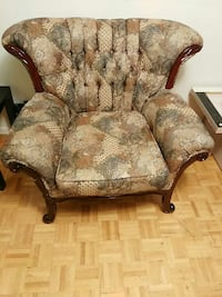 brown floral wing chair Ontario, M1V 2L4