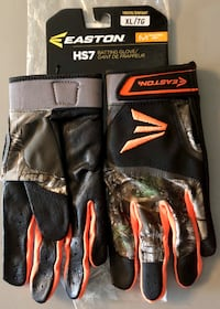 Easton 'Real Tree' camouflaged batting gloves NEW! Size YOUTH XL Plano, 75074