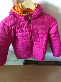 Rosa zip-up boble jakke Oslo, 0597