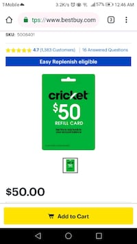 Cricket SIM kit $9.99 + $50 prepaid card