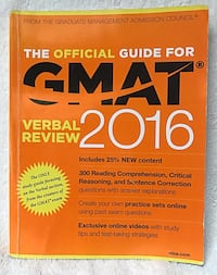The Official Guide for GMAT verbal review 2016