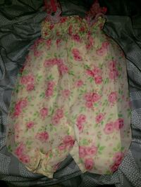 pink and green floral sleeveless romper Morristown, 37813