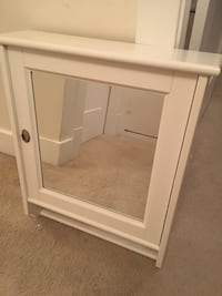 white wooden wall-mount cabinet with mirror Vancouver, V6M 1J1