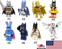 Lego Building Blocks Batman Mini Figures Superhero USA Bruce Wayne DC Arkham New Toy Ivins